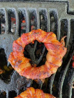 Onion rings on the smoker