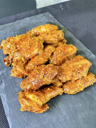 finished chicken wings