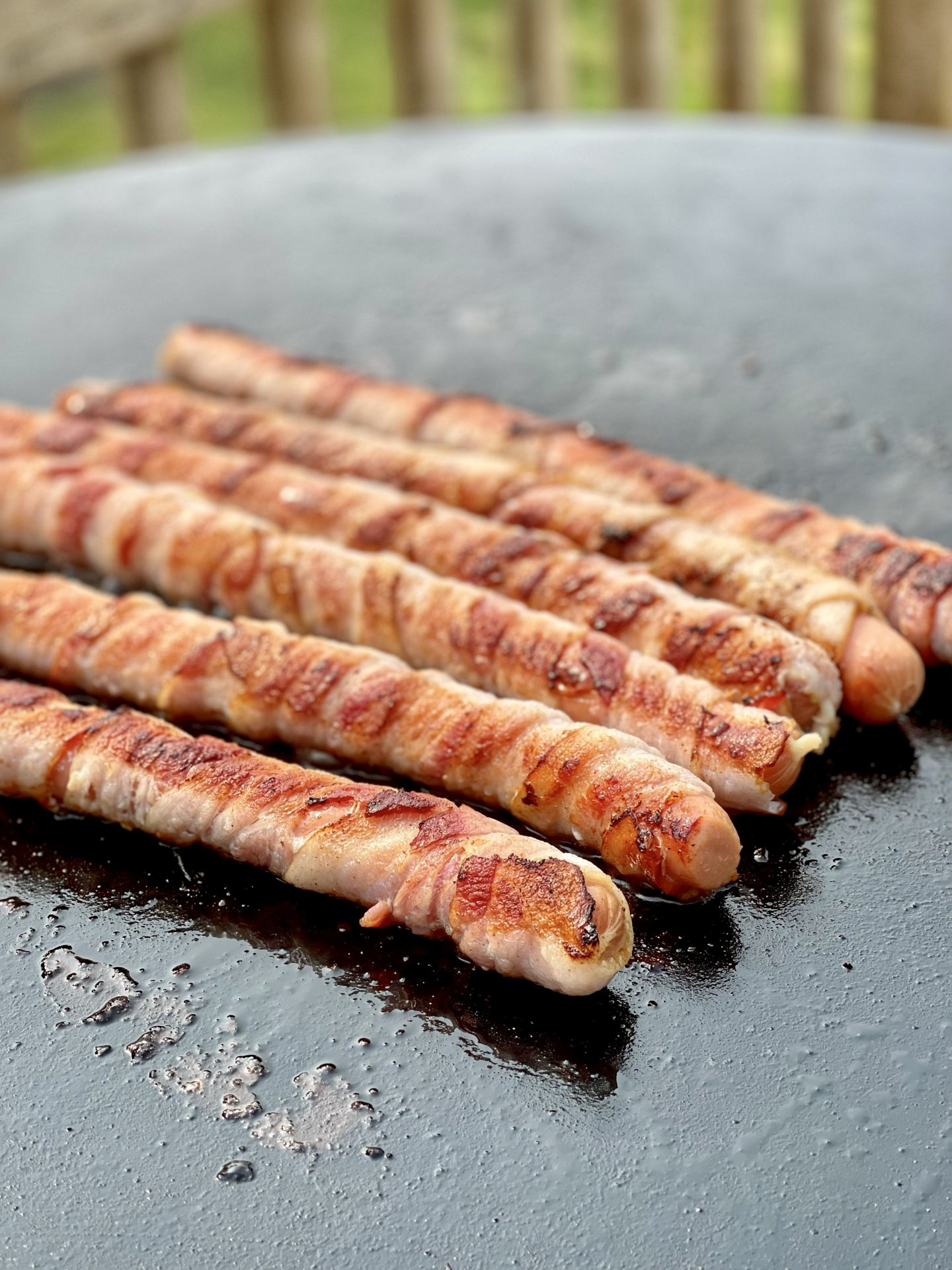 bacon wrapped hotdogs