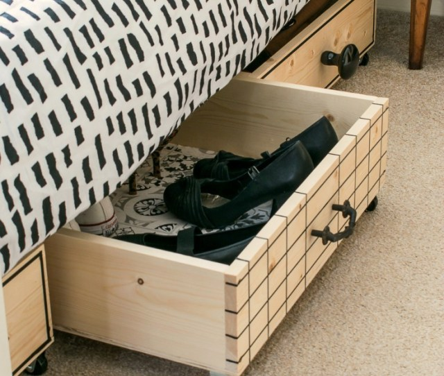 Stylish Pull Out Diy Under Bed Storage Boxes For Small Bedrooms Grillo Designs Www