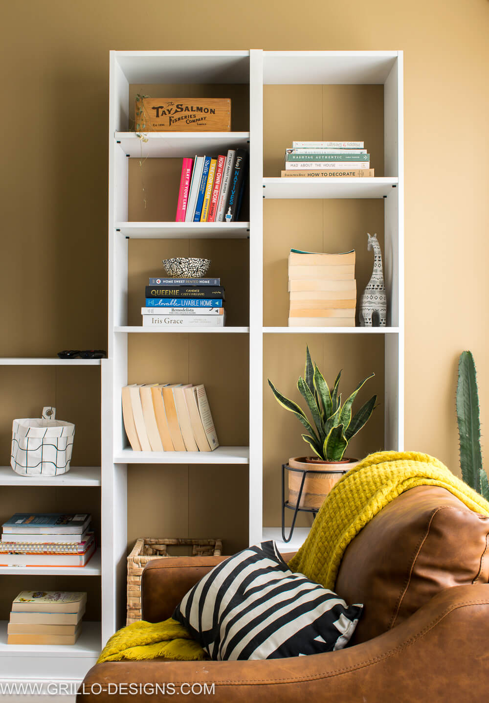 Renter Friendly Built In Bookcase Wall With Argos Home