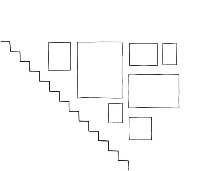 layout gallery tangga