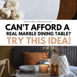 Easy Diy Marble Table Makeover You Can Do In Under 30
