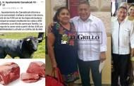 El alcalde de Cansahcab vende carne de vaca vieja, de su rancho y hace negocio redondo
