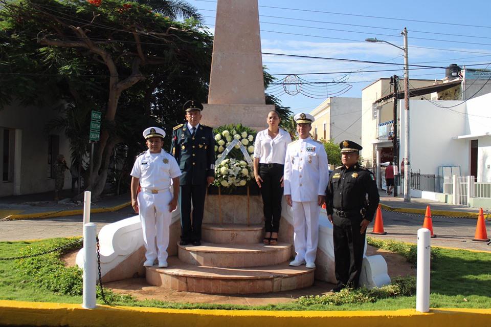 Recuerdan la Gesta Heroica del Castillo de Chapultepec, en Progreso