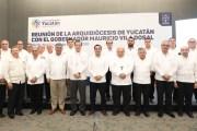 El gobierno del estado y la Arquidiócesis de Yucatán refrendan colaboración