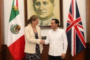 Yucatán fortalecerá cooperación bilateral con Gran Bretaña