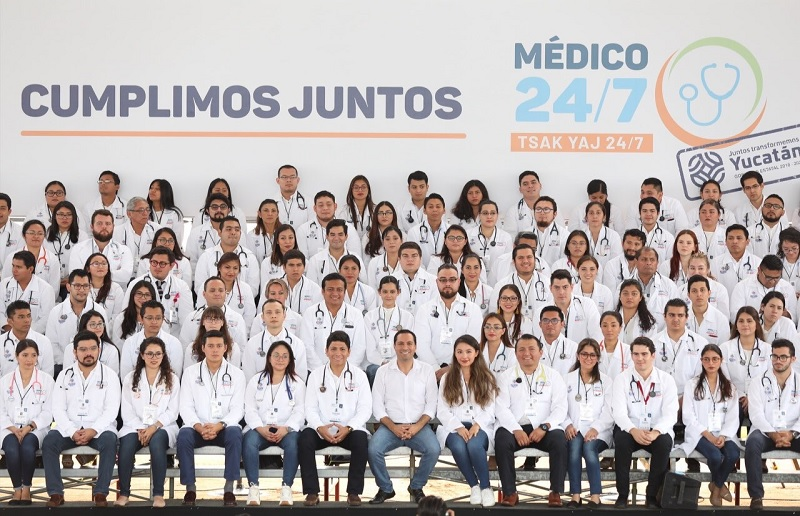 """Cumplen a los yucatecos con """"Médico 24/7"""" en todo el estado"""