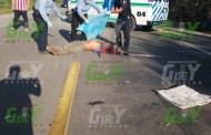 Por ir a exceso de velocidad, un chófer atropella y mata a un motociclista, cerca de Motul