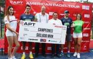 La pareja brasileña de Stefano Flores y Julio Julianoti ganaron en Mérida la primera fecha del American Padel Tour