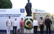 Celebran el CLXXXVIII Aniversario luctuoso de Vicente Guerrero