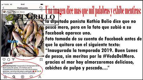 Kathia Bolio miente y ataca a medios de comunicación