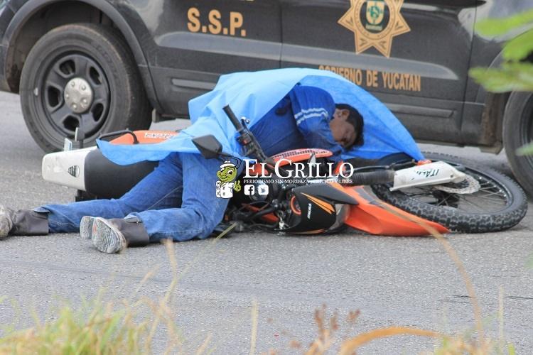 "Motociclista muere frente al ""Paraíso"": Lo chocan al querer incorporarse al Periférico"