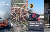 XEC de Policía: Se quema un auto de BIMBO/Cae en Seyé una torre de 100 metros