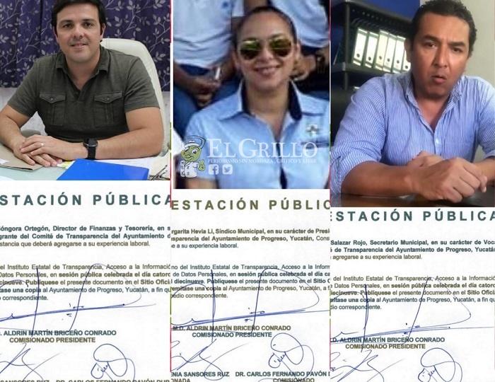 Sancionan a tres funcionario de Progreso por negar información