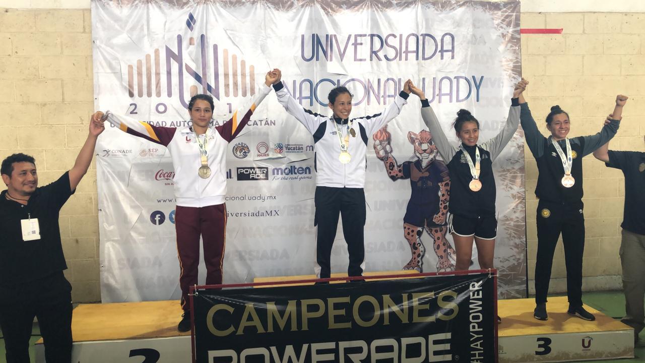 Laura Marrufo cierra con broche de oro para la UADY, en luchas universitarias
