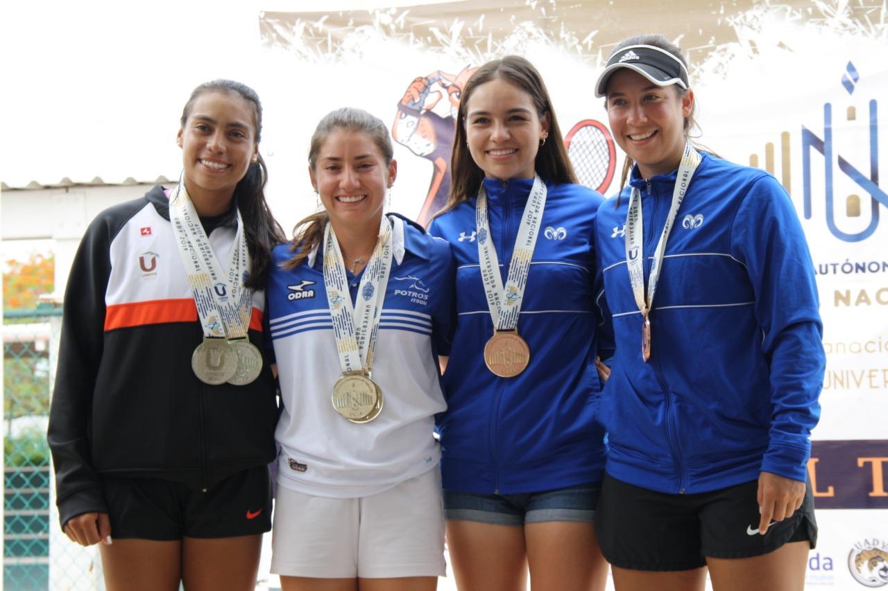 Platas para la Mayab en individual y dobles femenil de deporte blanco