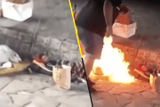 Un par de argentinos queman a dos indigentes (VÍDEO)