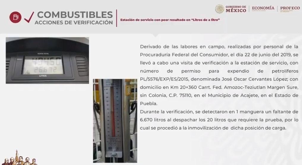 Una gasolinera en Puebla, la que más roba a los clientes