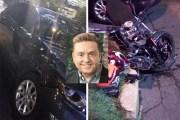 Ebrio, Daniel Bisogno atropella y deja grave a un motociclista