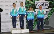 Una plata y tres bronces en la jornada de este miércoles en gimnasia de trampolín