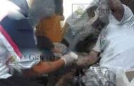 Albañil termina grave en el hospital al desplomarse un techo encima de él