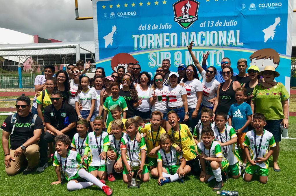Yucatán obtiene el subcampeonato en el Nacional de fútbol Sub-9 de Cancún