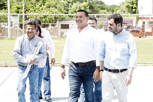 Renán Barrera supervisó los trabajos de protección civil en el parque Xoclán Bech