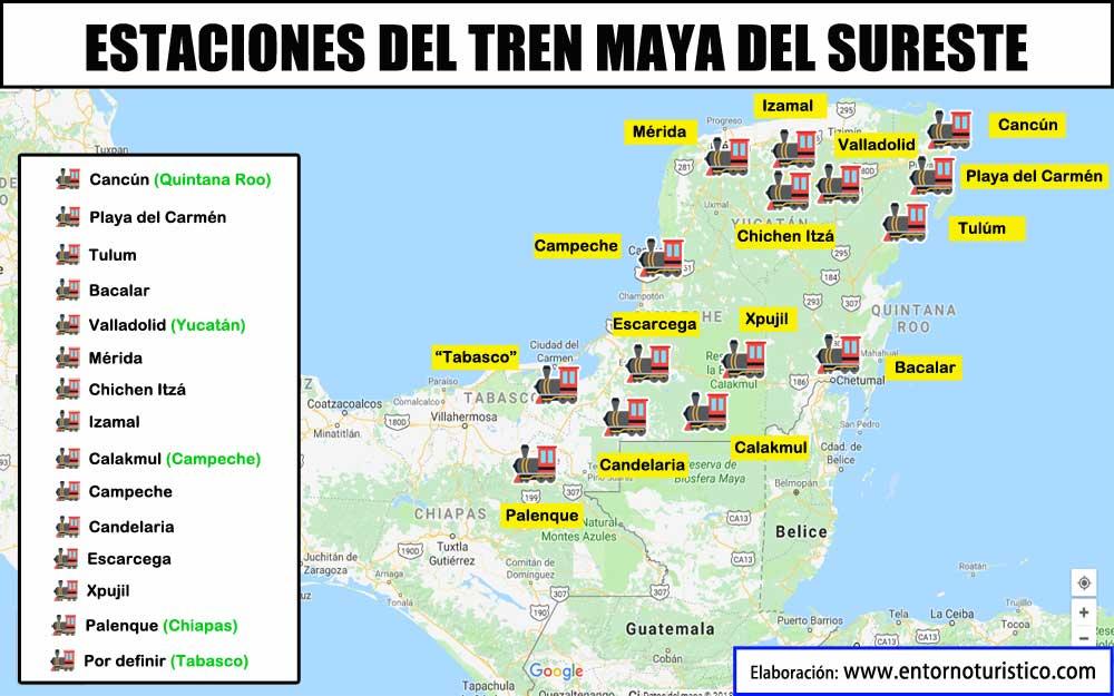 Ruta del Tren Maya tendrá  tres nuevas estaciones: Dos en Cancún y una en Tabasco