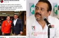 Premian la traición e incapacidad de Carlos Sobrino, gracias a Rolando Zapata