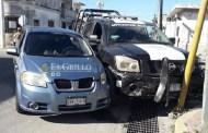 """Policía de Progreso choca por """"volarse"""" un alto del centro"""