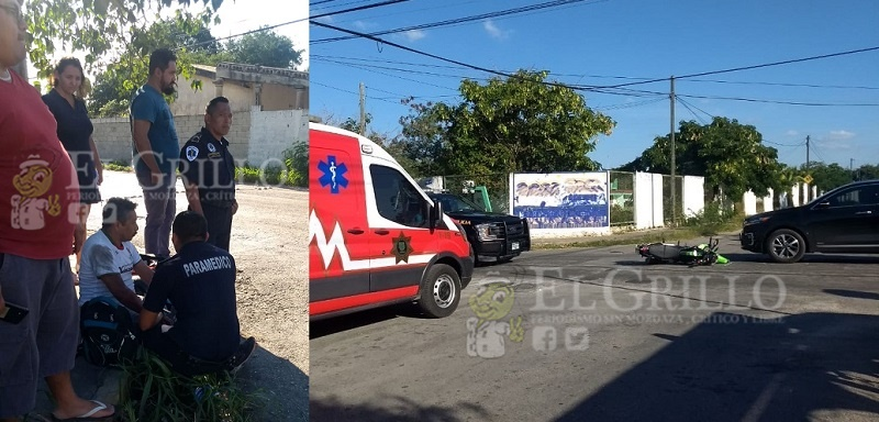 Joven irresponsable atropella a dos motociclistas, en Ciudad Caucel