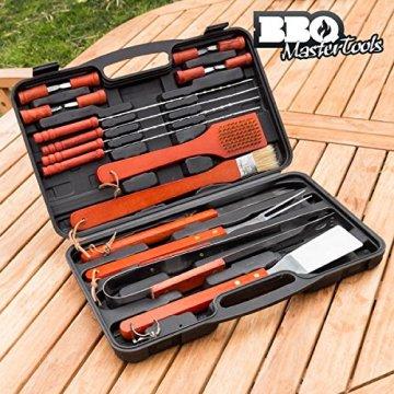 BBQ Master Tools Werkzeugkoffer für Grill, schwarz, (18Teile) -