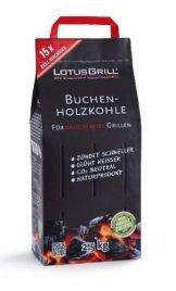 LotusGrill Buchen-Holzkohle 2,5 kg! Speziell entwickelt für den rauchfreien Holzkohlegrill/Tischgrill -