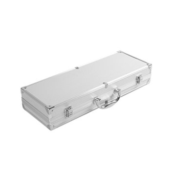 Rustler RS-0531 Grillbesteck Set im Aliminium Koffer, 5 teilig -