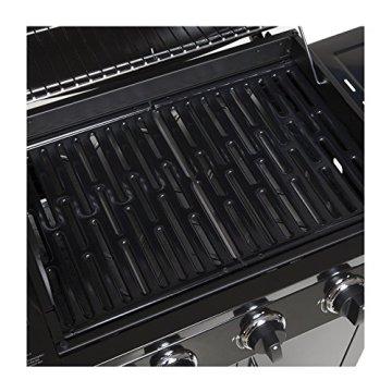 Gasgrill BBQ GRILLWAGEN 3 Edelstahl Brenner Gas Grill + Seitenkocher SCHWARZ NEU -