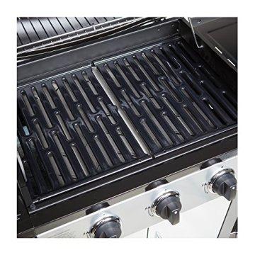 Gasgrill BBQ GRILLWAGEN 3 Edelstahl Brenner Gas Grill + Seitenkocher SILBER /SCHWARZ NEU -