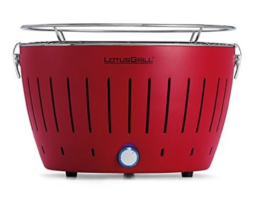 LotusGrill Holzkohlengrill Serie 340, Farbe feuerrot, 35 x 35 x 23,4 -