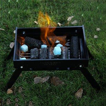 OUTAD tragbarer Faltgrill Holzkohlegrill BBQ Grill Standgrill Barbecue Falt Kohlegrill -
