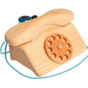 Drewniany Telefon