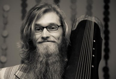 """Brian with """"Phoenix Tongue"""" of his guqin 