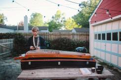 BCG on hammered guzheng in back yard  photo by Lovely Ember Photography