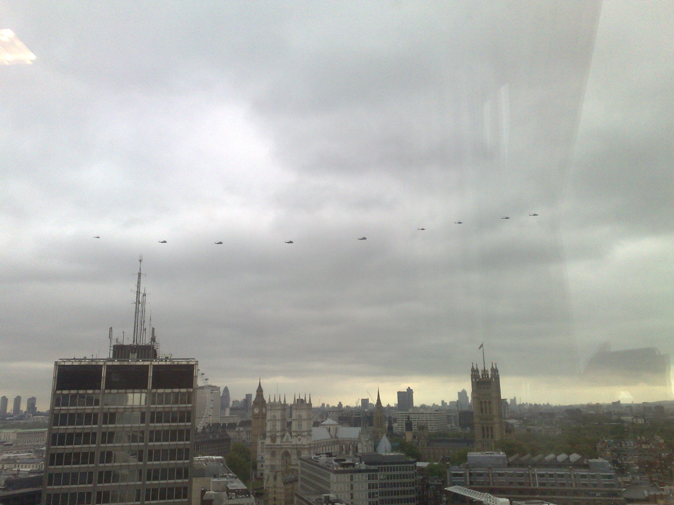 Westminster Skyline - with Helicopters