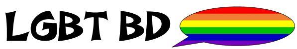 logo de l'association LGBT BD, titre suivi un drapeau rainbox dans une bulle de BD