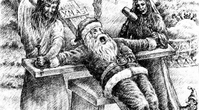 Santa Nailed by Jesus shirt