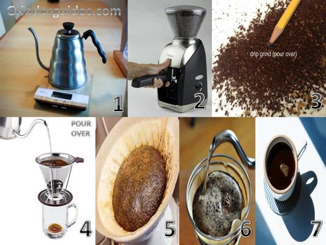 make pour over coffee preparation