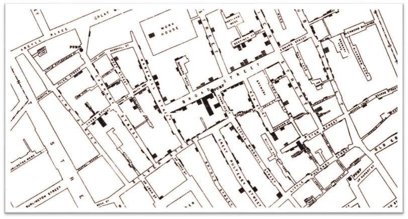 John Snow Cholera Outbreak Map