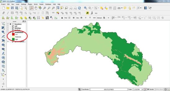 raster overlay analysis result