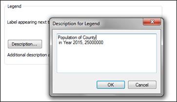 description text window