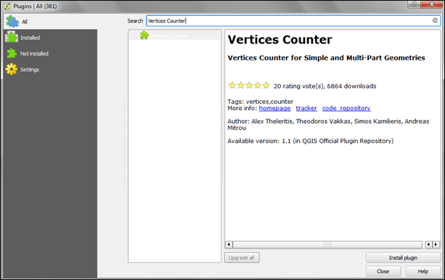Counting Vertices of Shapefile or GIS Data in QGIS